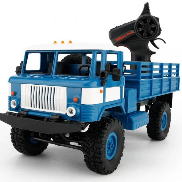 s-idee® Military Truck mit 2,4 GHz 4WD bis 10 km/h 1:16 blau